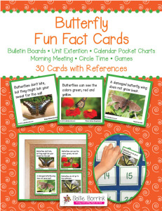 Butterfly Fun Fact Cards - Unit Extension, Bulletin Board, Games, Circle Time