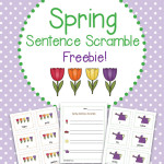 Spring Sentence Scramble Literacy Activity