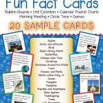 FREE Fun Fact Card Pack – 20 Sample Cards for Unit Extension, Bulletin Boards, Games and Circle Time