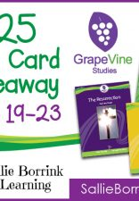 GrapeVine Studies $25 Gift Card Giveaway!