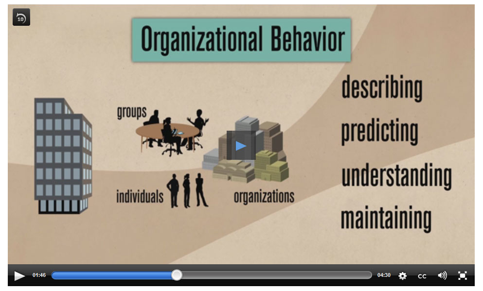 JumpCourse Video from Organizational Behavior