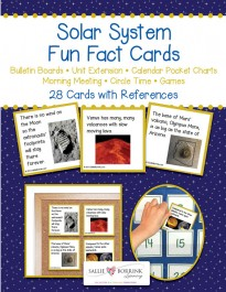 Solar System Fun Fact Cards