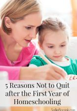 5 Reasons Not to Quit after the First Year of Homeschooling