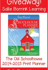 3 The Old Schoolhouse (TOS) Print Planners Giveaway!