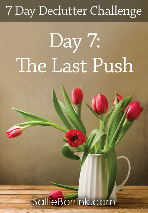 The Last Push - 7 Day Declutter Challenge