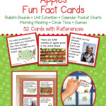 Apples Fun Fact Cards – Unit Extension Activity, Bulletin Boards, Games, Circle Time