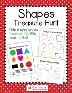 Shapes Treasure Hunt - Hide and seek game with colors and shapes for toddlers and preschoolers