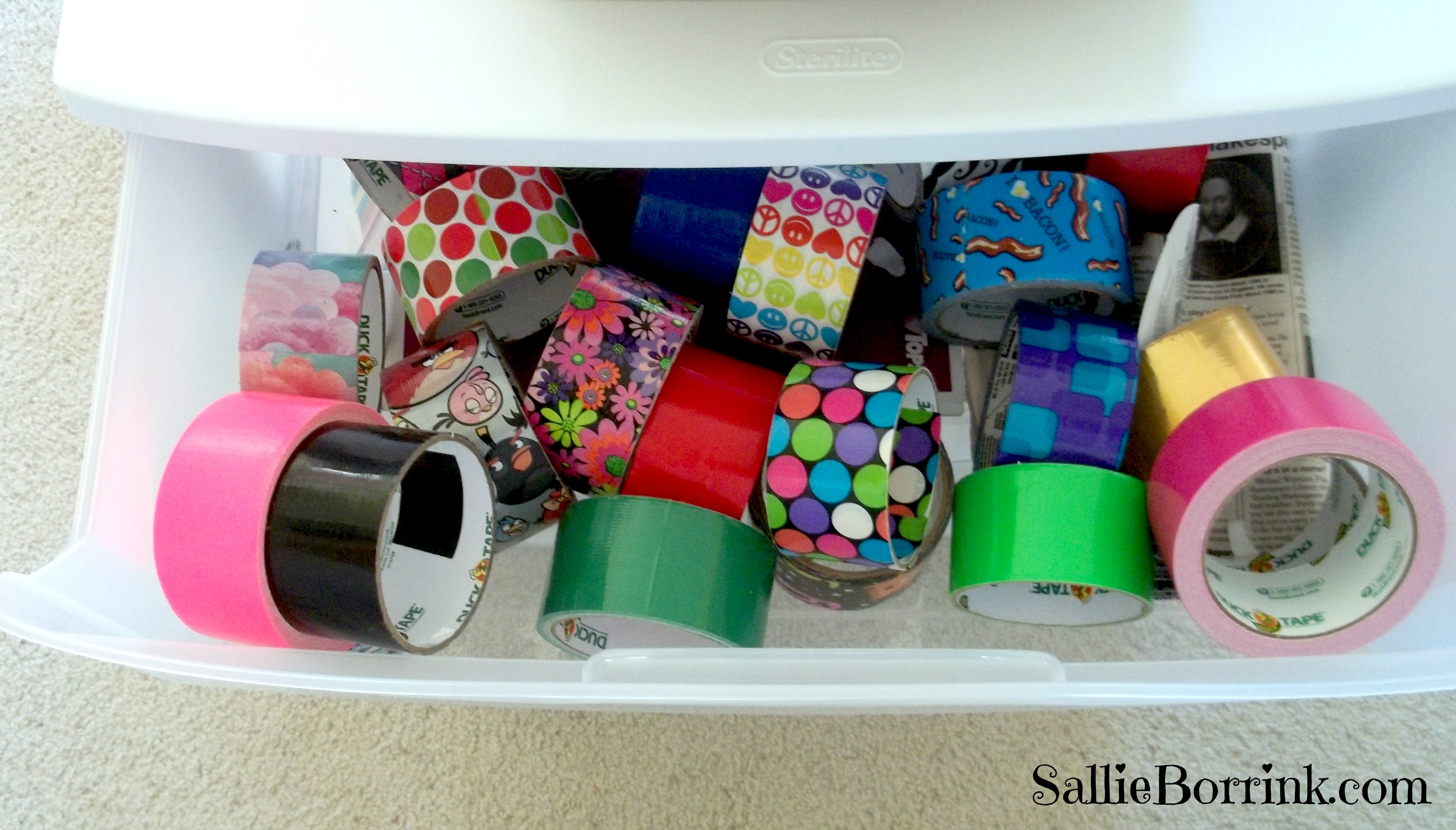 Duck Tape Drawer of Endless Possibilities