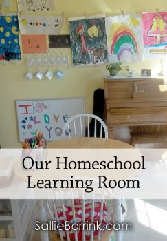 Our Homeschool Learning Room 2014-2015