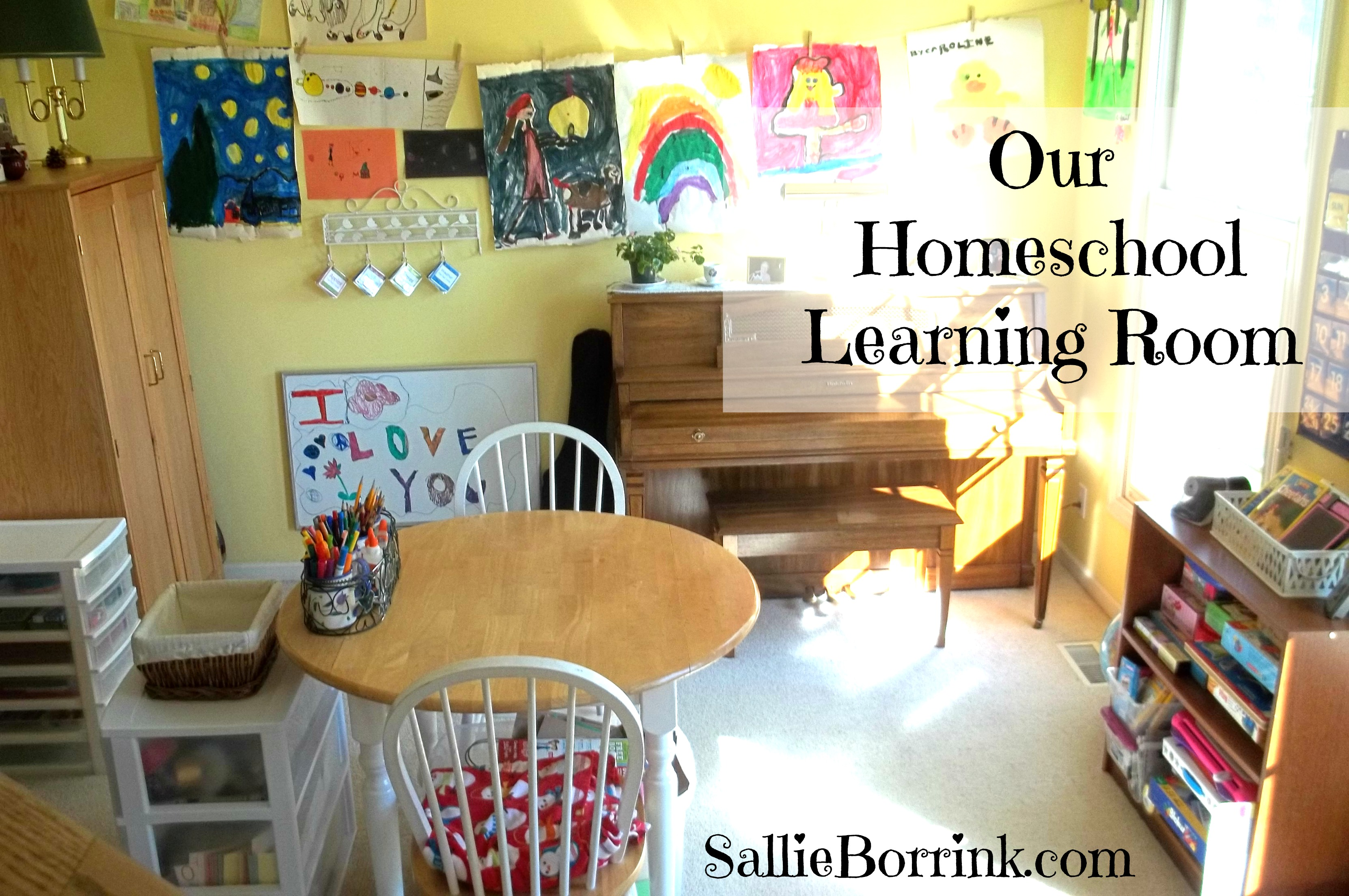 Our Homeschool Learning Room 2014