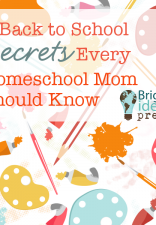Guest Blogging at Bright Ideas Press – Back to School Secrets for Homeschool Moms