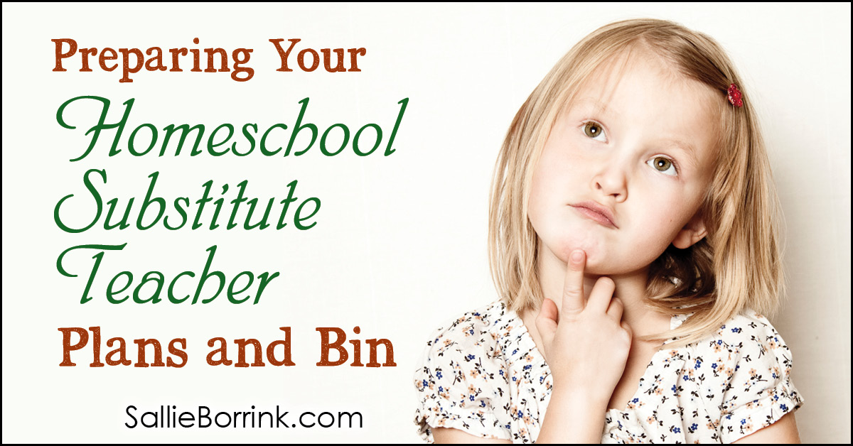 Preparing Your Homeschool Substitute Teacher Plans and Bin 2