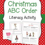 Christmas ABC Order Literacy Center Activity