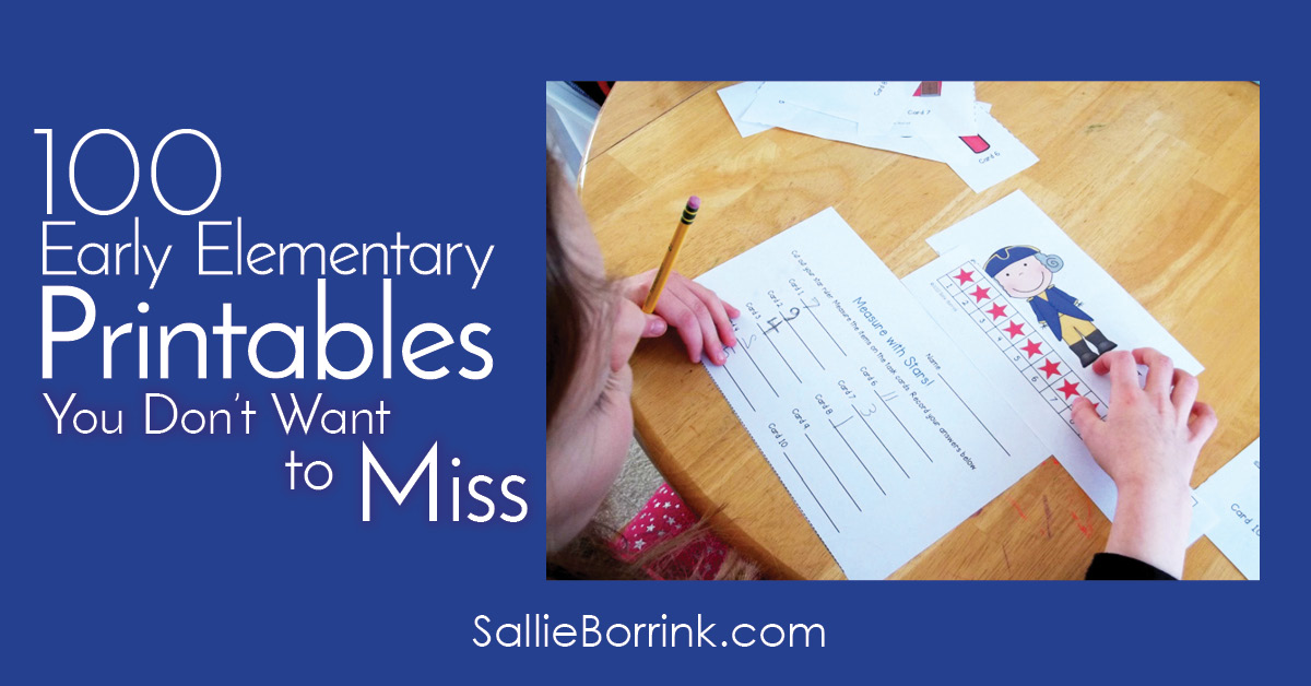 100 Early Elementary Printables You Don't Want to Miss 2