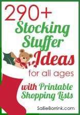 290+ Stocking Stuffer Ideas for All Ages with Printable Shopping Lists