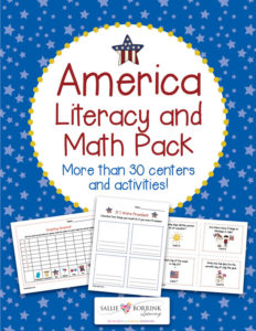 America Literacy and Math Pack - Centers and Activities for Patriotic Holidays