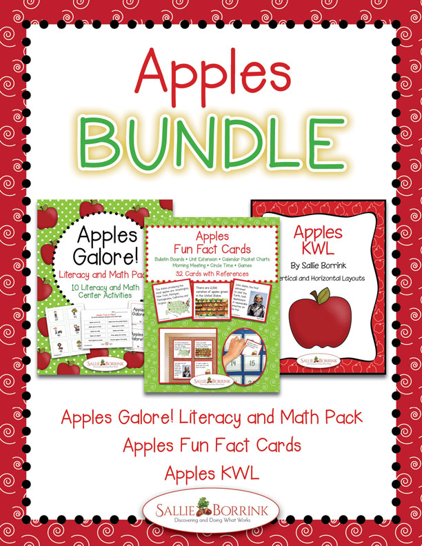 Apple Literacy, Math, and Fun Facts Bundle