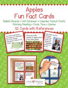 Apples Fun Fact Cards