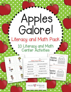 Apples Galore Literacy and Math Pack 1