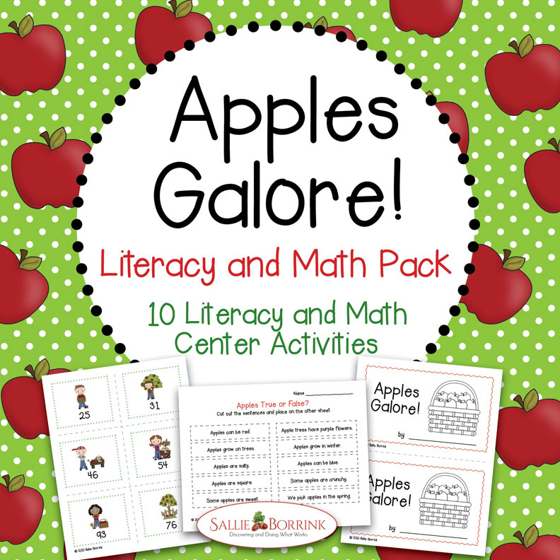 Apples Galore! Literacy and Math Pack – 10 Centers and Activities