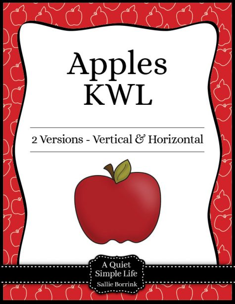 Apples Unit KWL