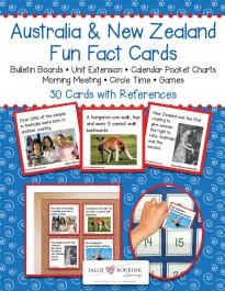 Australia-New Zealand Fact Cards