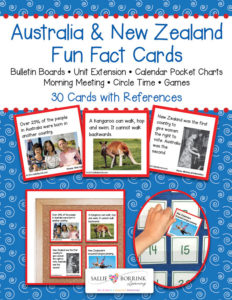 Australia and New Zealand Fun Fact Cards