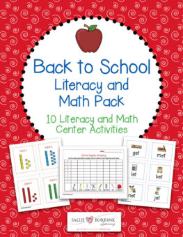 Back to School Literacy and Math Pack