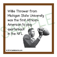 Black History Month people names Willie Thrower