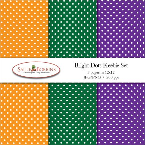 Bright Polka Dots Digital Papers