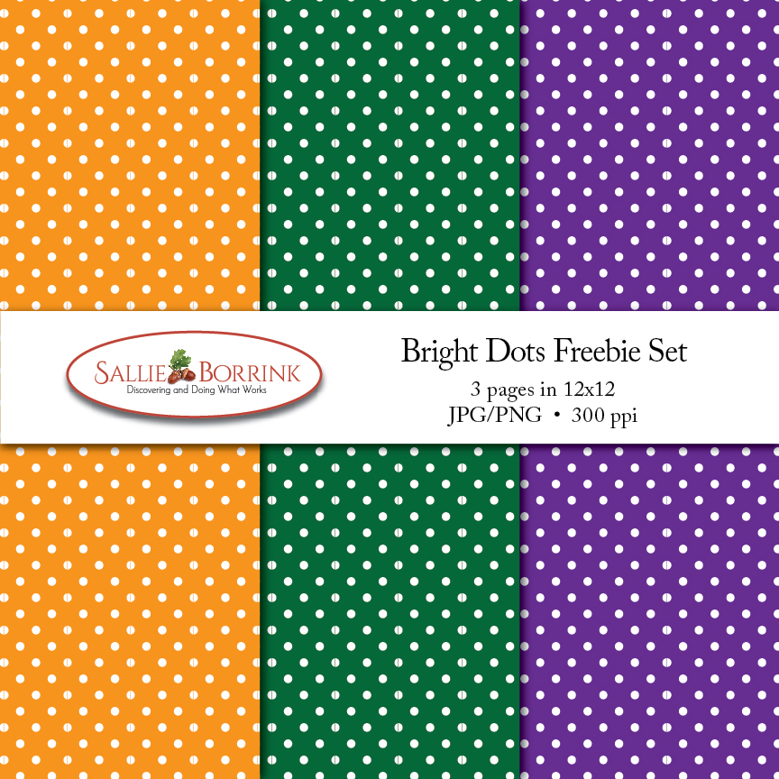 Bright Dots Digital Papers Freebie Set