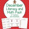 December Literacy and Math Pack