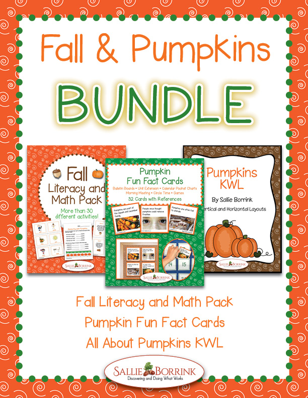 Fall and Pumpkins BUNDLE – Literacy and Math Activities, Fun Fact Cards and KWL