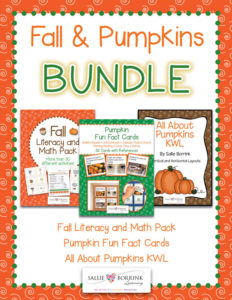 Fall and Pumpkins BUNDLE - Literacy and Math Activities, Fun Fact Cards and KWL