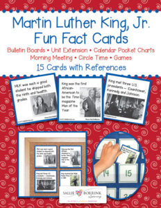 Martin Luther King, Jr. Fun Facts Cards