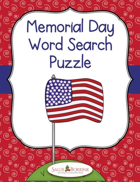 Memorial Day Word Search Puzzle