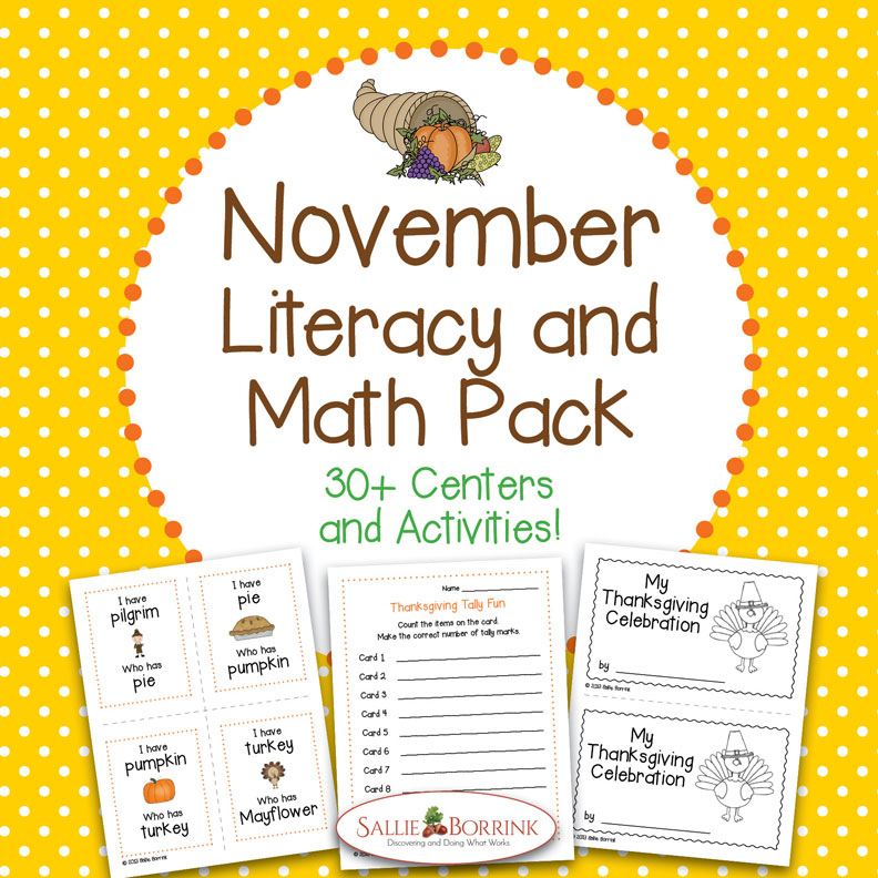November Literacy and Math Pack