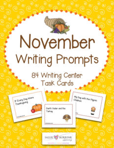 November Writing Prompts - Football, Turkey, and Thanksgiving Themes