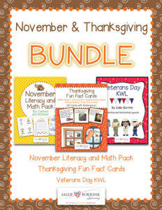 Thanksgiving, November and Veterans Day BUNDLE