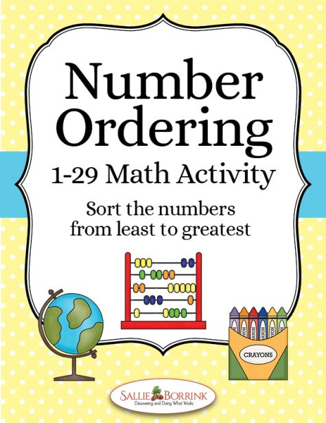 Number Ordering 1-29