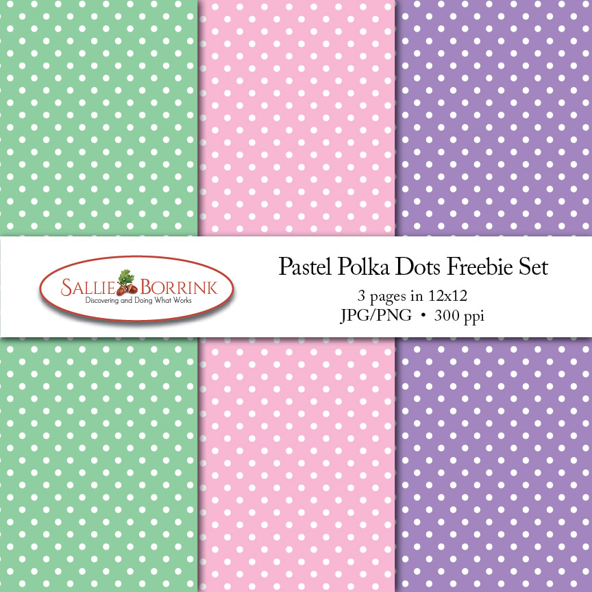 Pastel Polka Dots Digital Papers