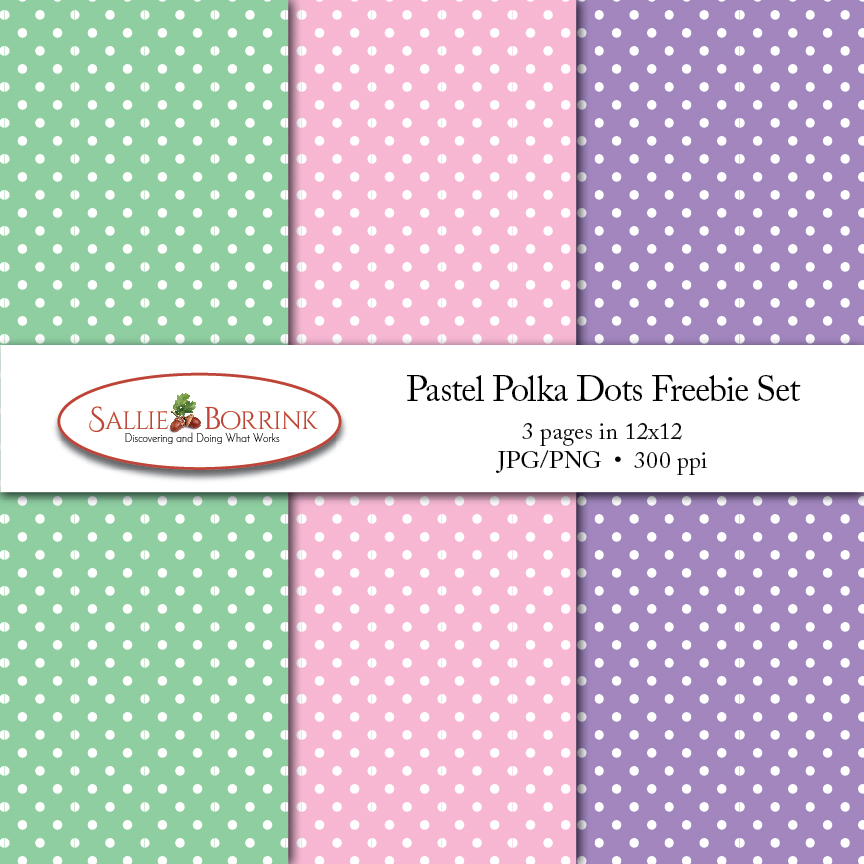 Pastel Polka Dots Freebie Set
