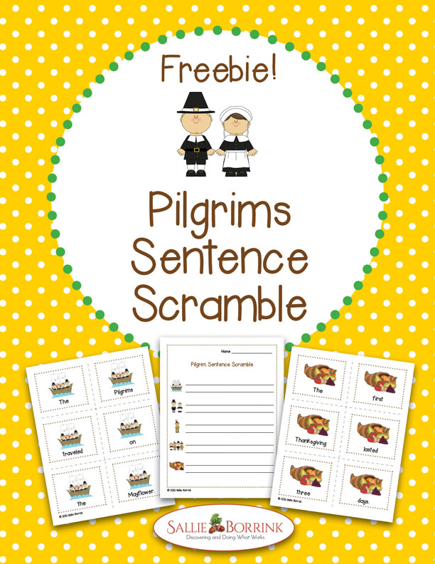 Pilgrims Sentence Scramble Activity