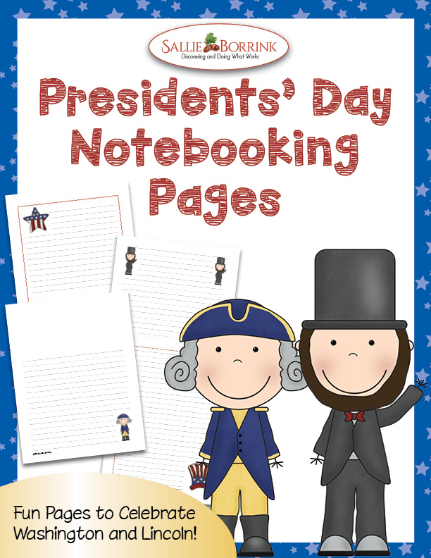 Presidents' Day Notebooking Pages