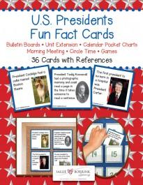Presidents Fun Fact Cards