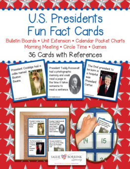 Presidents Fun Fact Cards