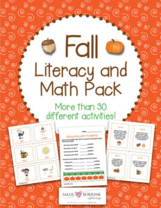 Fall Literacy and Math Pack - 30+ Centers and Activities