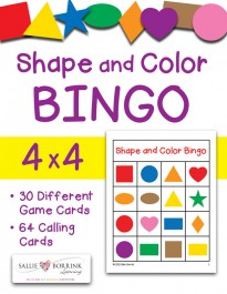 Shape and Color Bingo 4x4