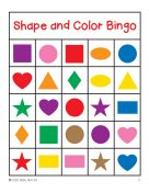 Impertinent image with shape bingo printable