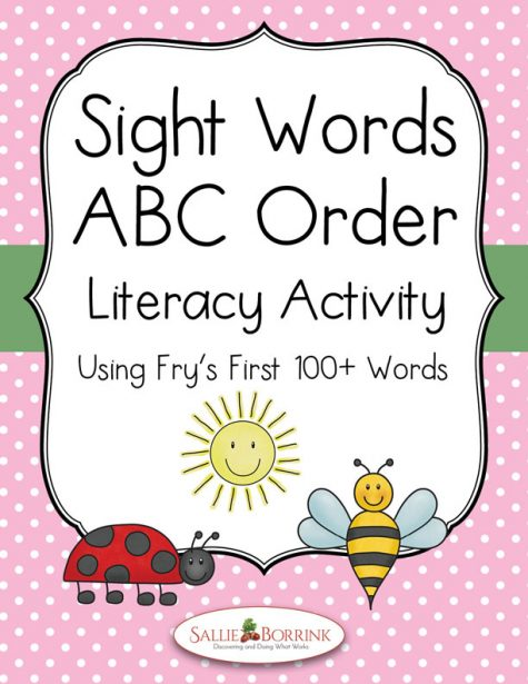 Sight Words ABC Order Literacy Activity